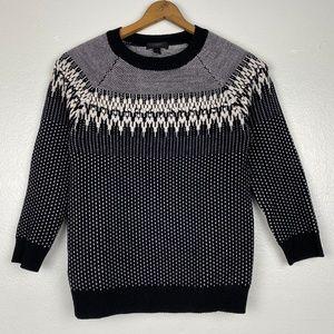 J Crew Wool Bobble Fair Isle Sweater